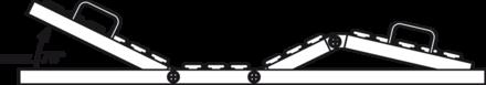 Elektrische Höhenverstellung und elektrische Verstellung von Rücken- und Beinteil mit automatischer Dreifachfunktion