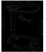 Skizze Nachttisch Aluna Server 350